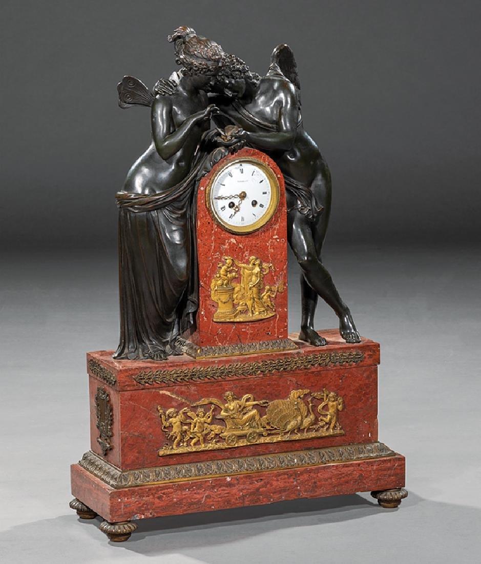 "Bronze and Marble Mantel Clock,""TIFFANY & Co."""