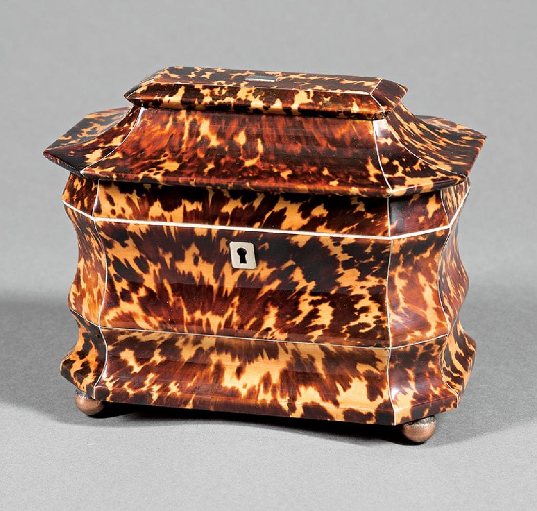 George III Tortoiseshell Tea Caddy