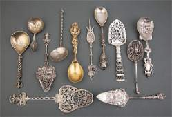 Continental Silver Trowels and Serving Spoons