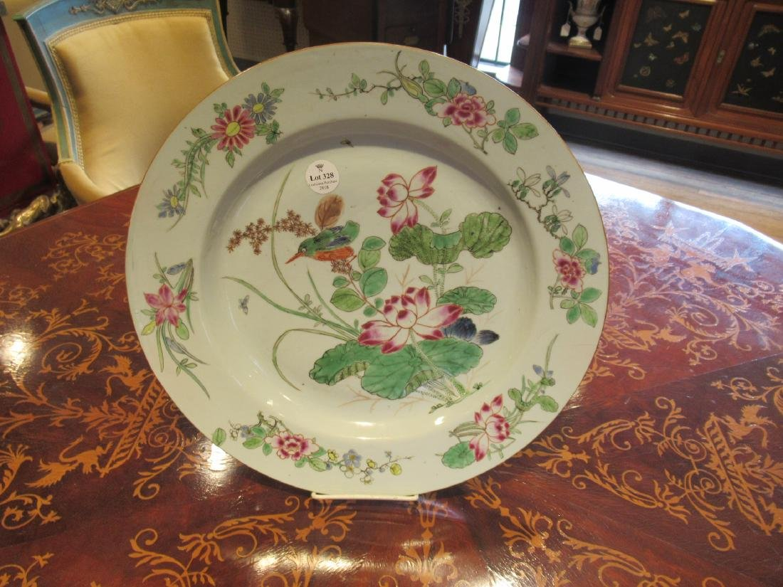 Chinese Export Famille Rose Porcelain Charger - 3