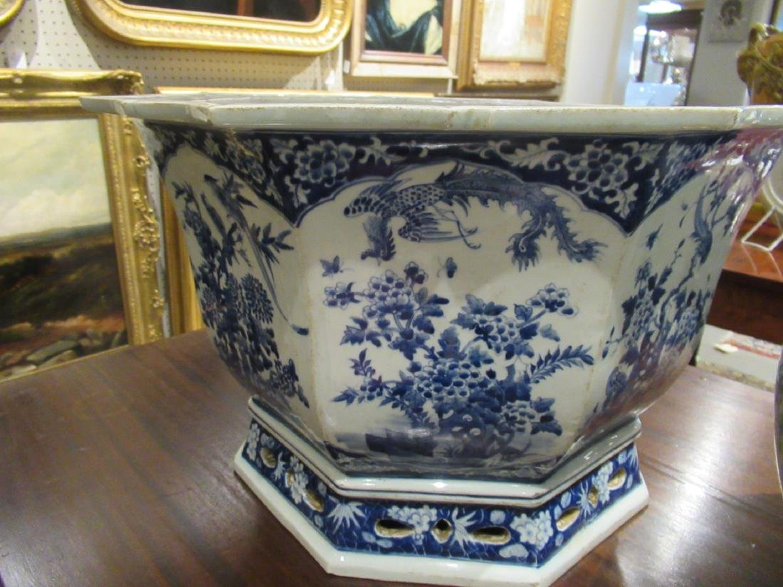 Pair of Chinese Blue and White Porcelain Jardinieres - 3