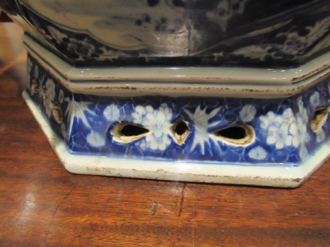 Pair of Chinese Blue and White Porcelain Jardinieres - 5
