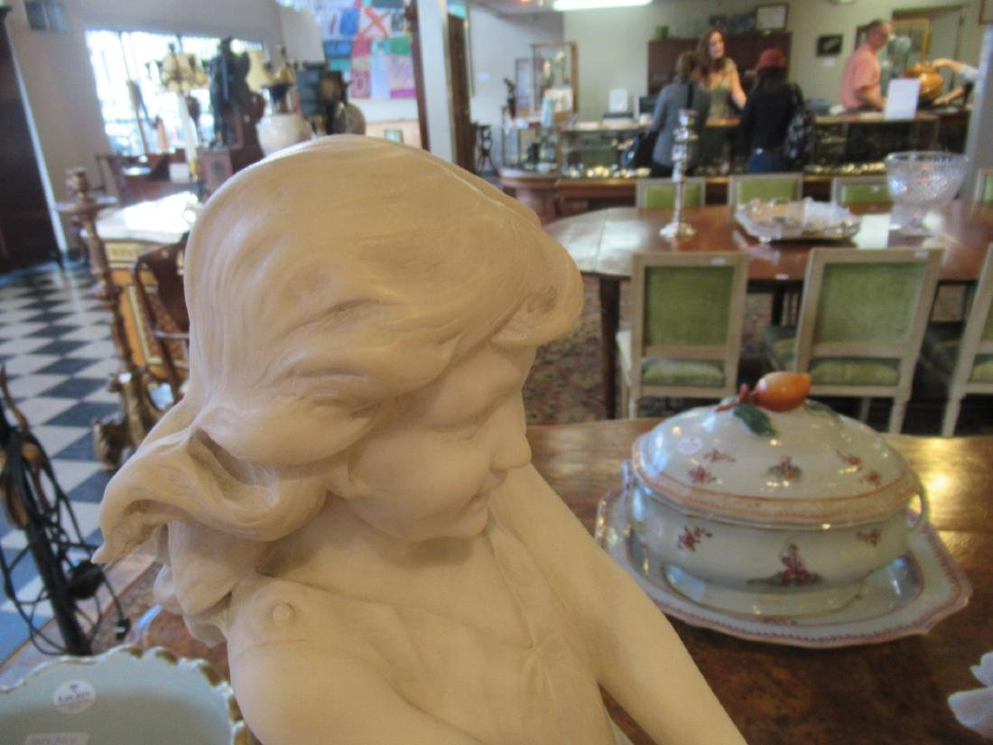 Carved Carrara Marble and Mixed Media Sculpture - 8