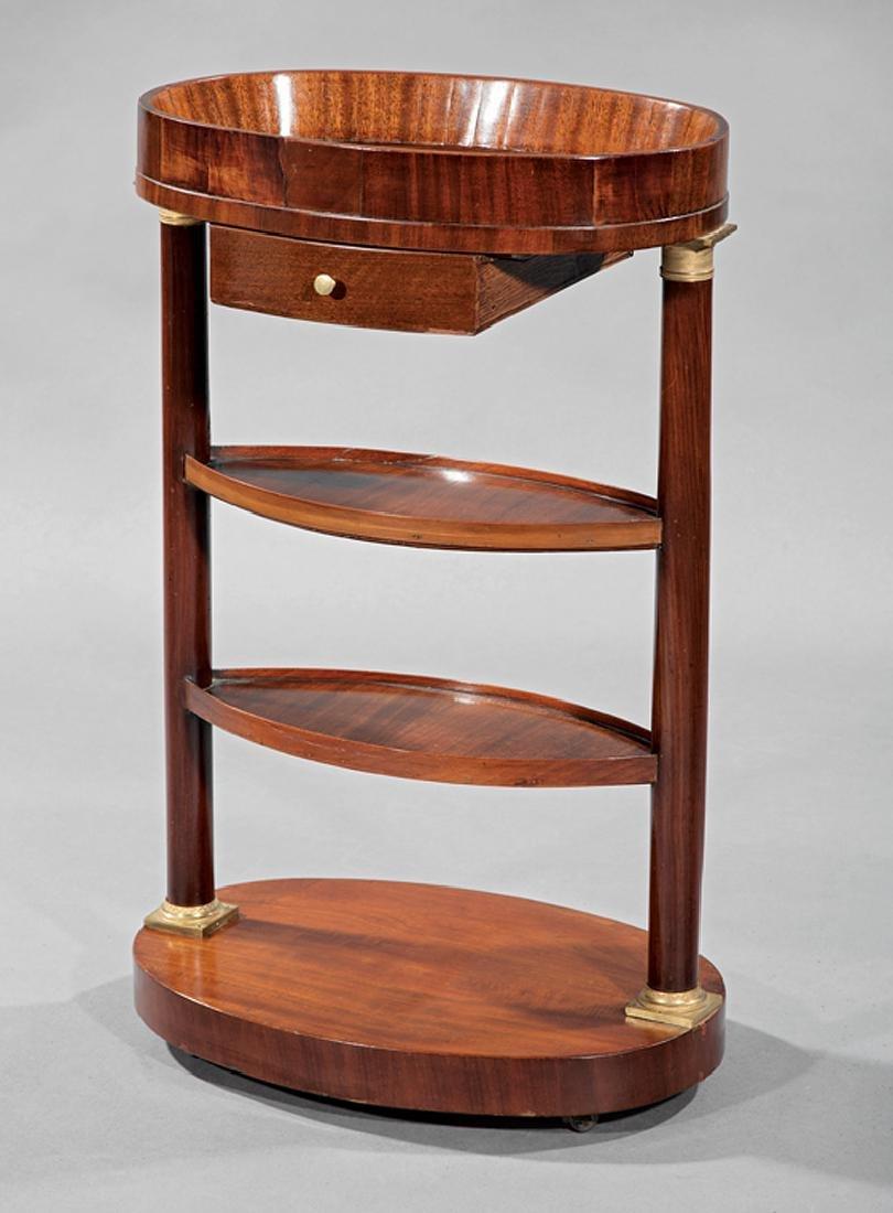 Empire Bronze-Mounted Mahogany Elliptical Work Table