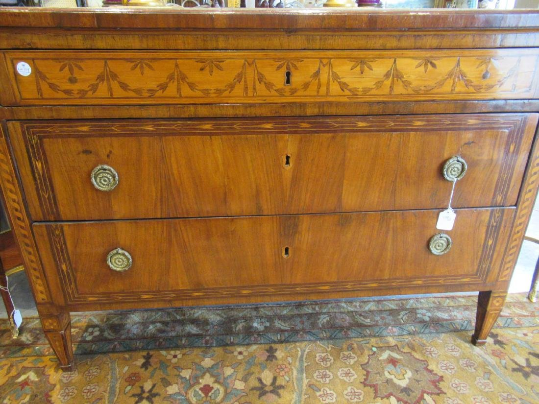 Italian Marquetry and Walnut Commode - 3