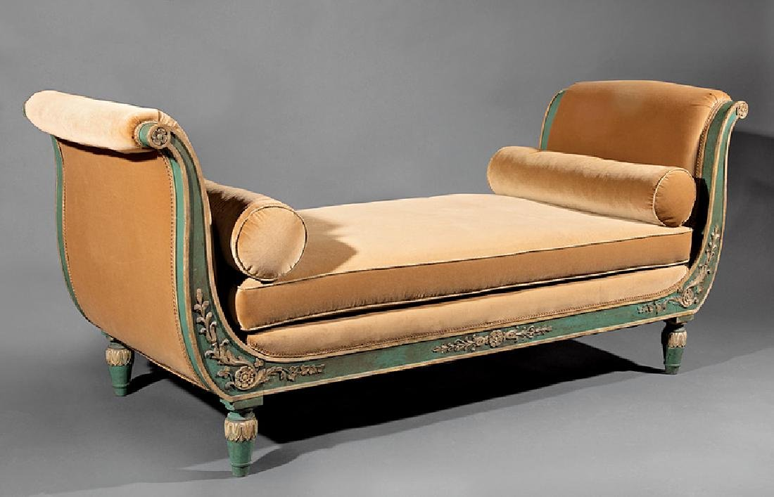 Directoire Carved, Painted, Parcel Gilt Chamber Suite