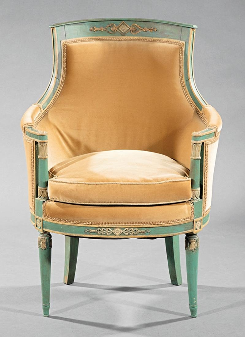 Directoire Carved, Painted, Parcel Gilt Chamber Suite - 2