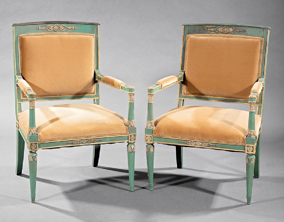 Directoire Carved, Painted, Parcel Gilt Chamber Suite - 3