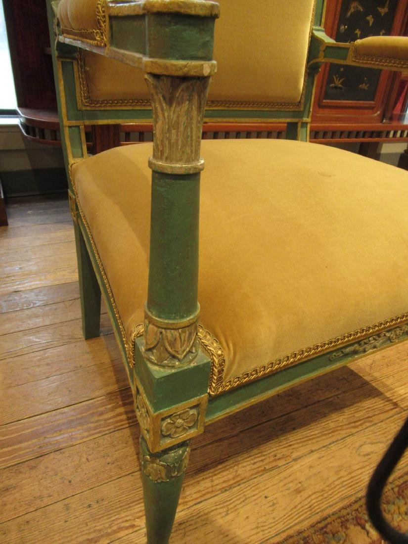 Directoire Carved, Painted, Parcel Gilt Chamber Suite - 4