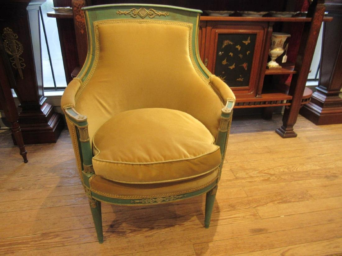 Directoire Carved, Painted, Parcel Gilt Chamber Suite - 6