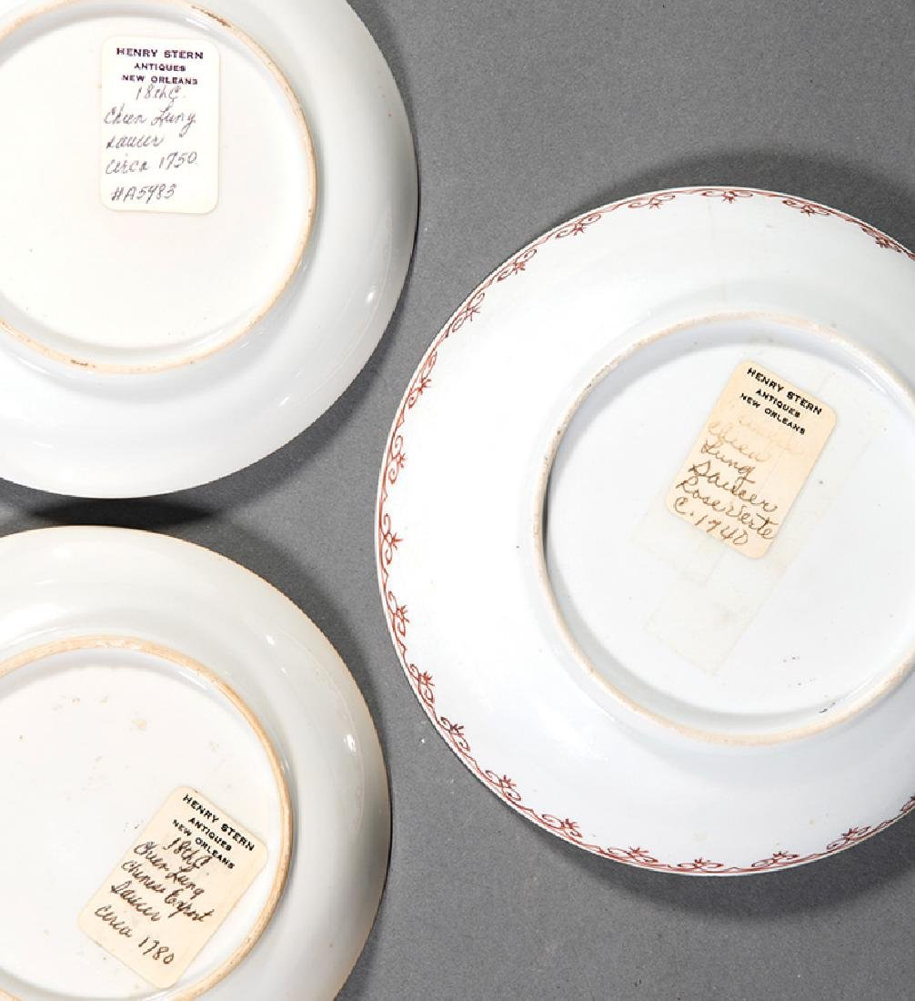 Three Chinese Famille Rose Porcelain Dishes - 2
