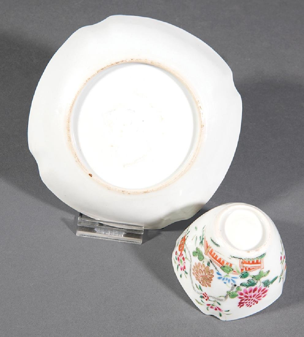 Chinese Famille Rose Porcelain Cup and Saucer - 2