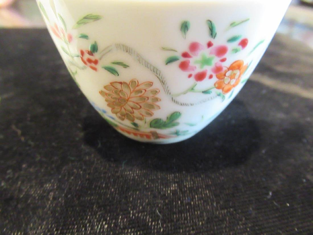 Chinese Famille Rose Porcelain Cup and Saucer - 3