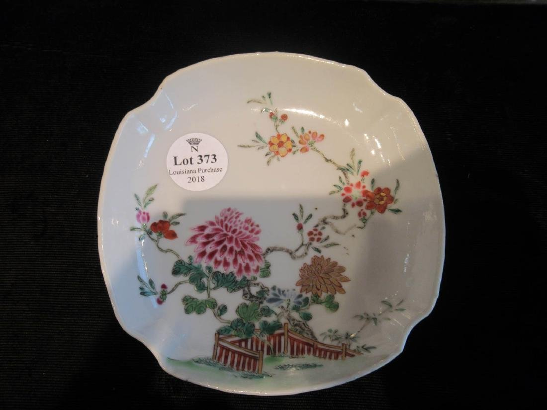 Chinese Famille Rose Porcelain Cup and Saucer - 6