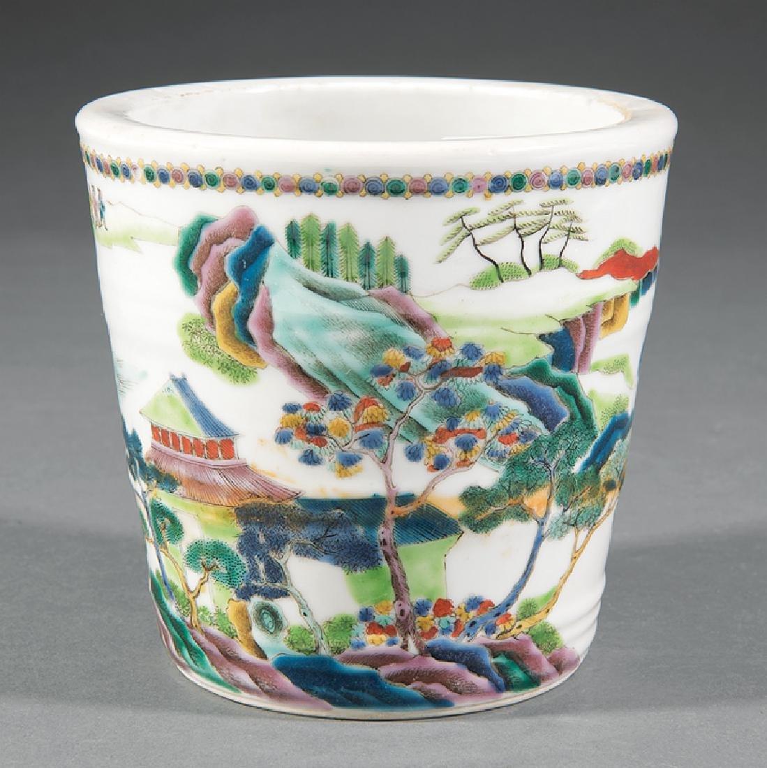 Chinese Famille Verte Porcelain Cachepot