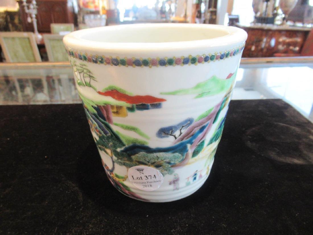 Chinese Famille Verte Porcelain Cachepot - 3