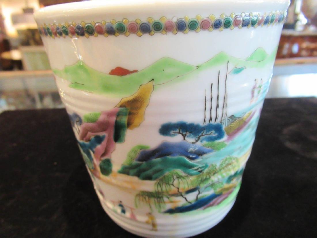 Chinese Famille Verte Porcelain Cachepot - 5