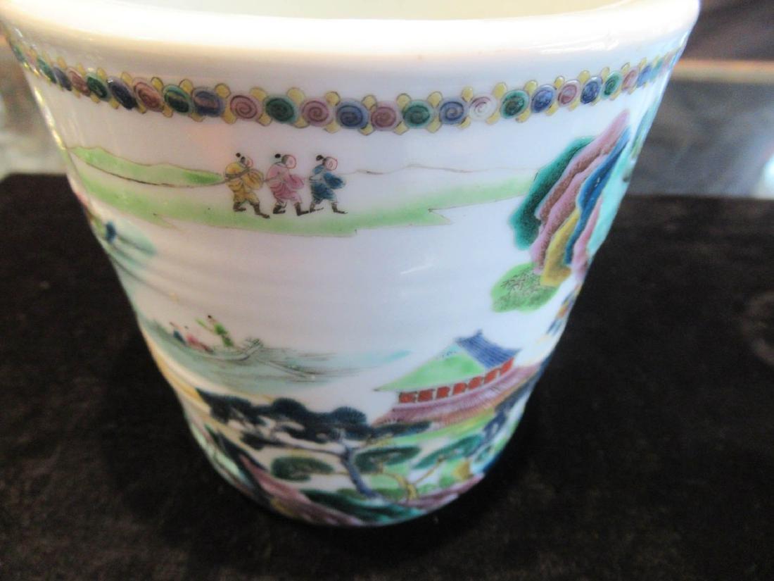 Chinese Famille Verte Porcelain Cachepot - 6