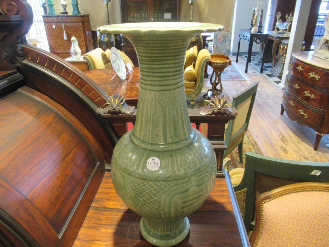 Pair of Chinese Celadon Stoneware Vases - 2