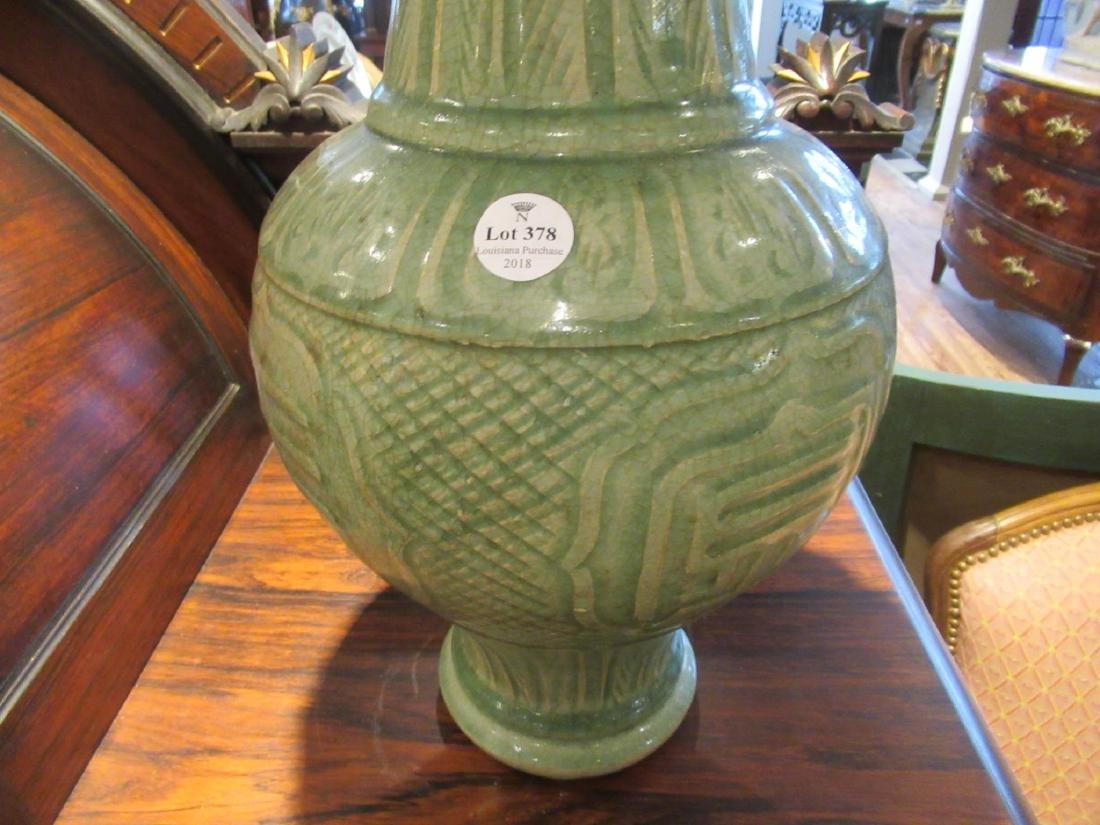 Pair of Chinese Celadon Stoneware Vases - 3