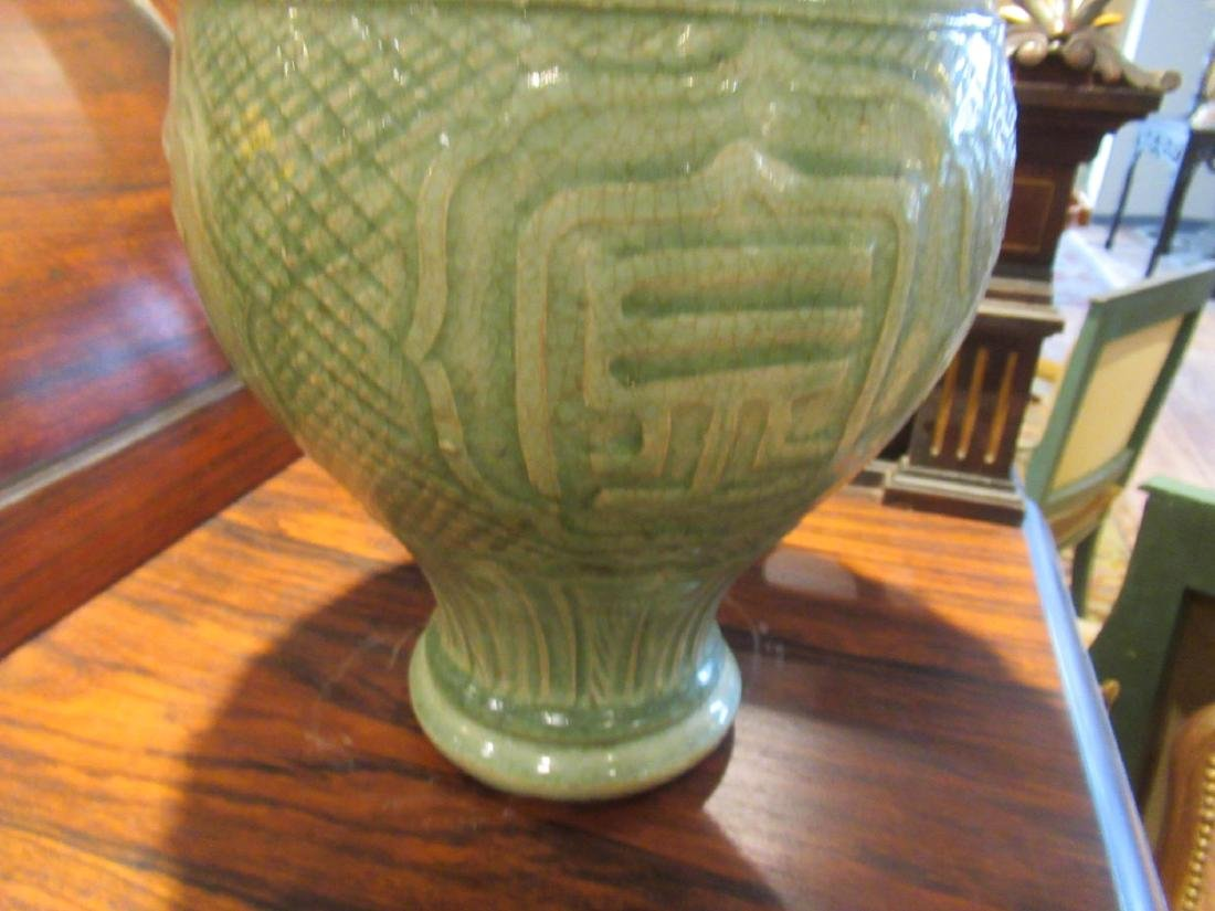 Pair of Chinese Celadon Stoneware Vases - 4