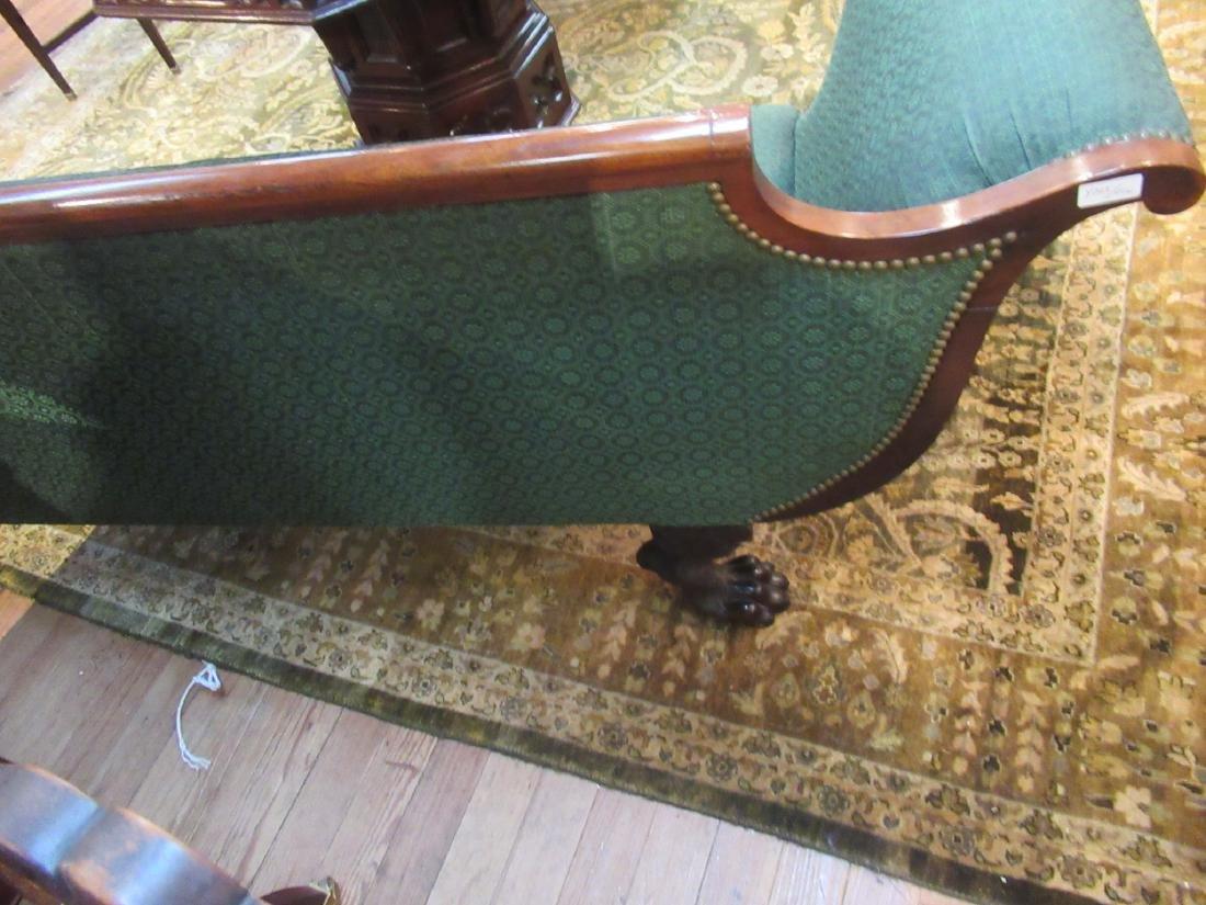 American Classical Carved Mahogany Sofa - 4