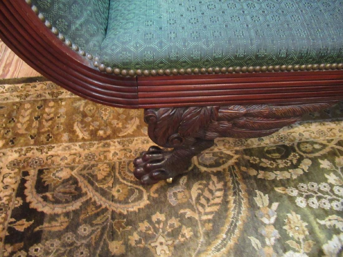American Classical Carved Mahogany Sofa - 5