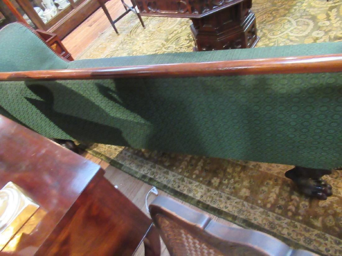 American Classical Carved Mahogany Sofa - 6