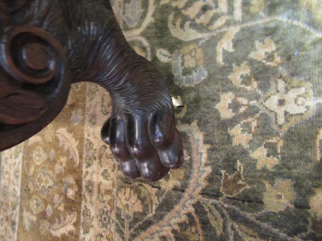 American Classical Carved Mahogany Sofa - 8