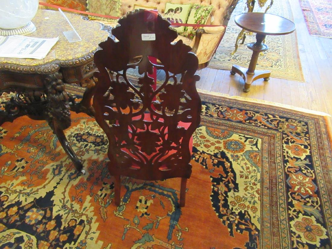 Carved and Laminated Rosewood Slipper Chair, Belter - 4