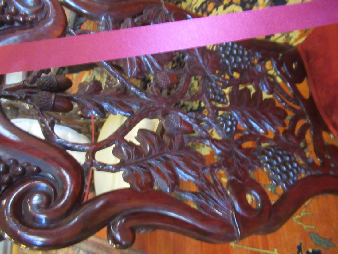 Carved and Laminated Rosewood Slipper Chair, Belter - 5