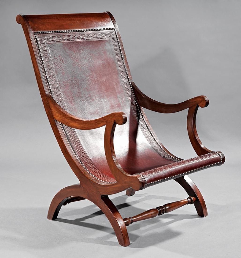 Fine Benchmade Mahogany Campeche Chair