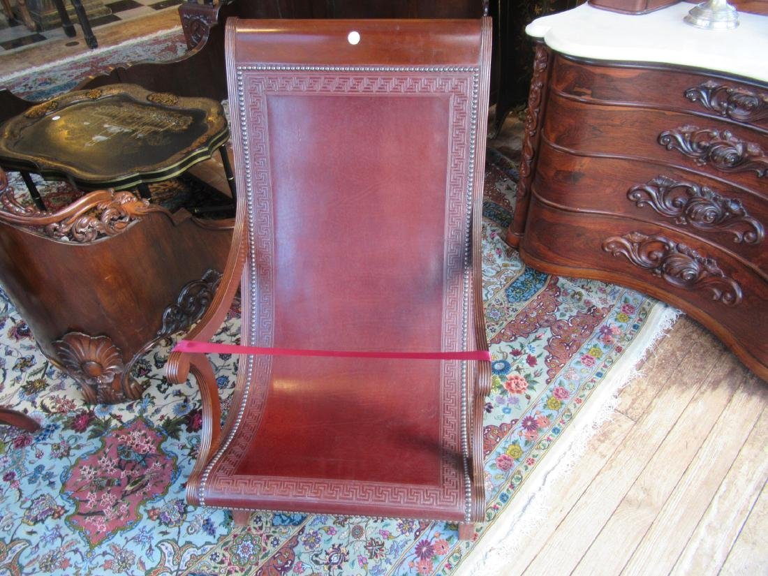 Fine Benchmade Mahogany Campeche Chair - 2