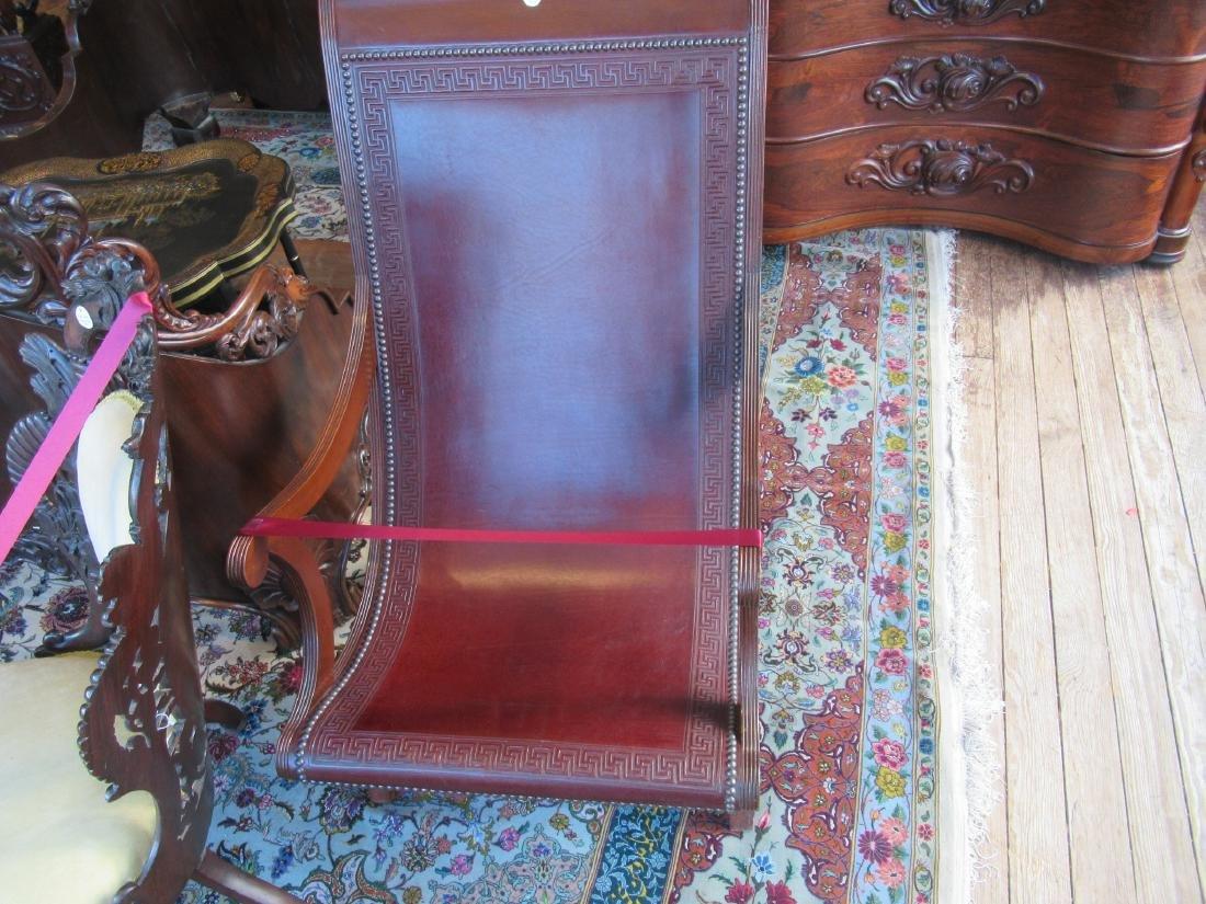 Fine Benchmade Mahogany Campeche Chair - 4