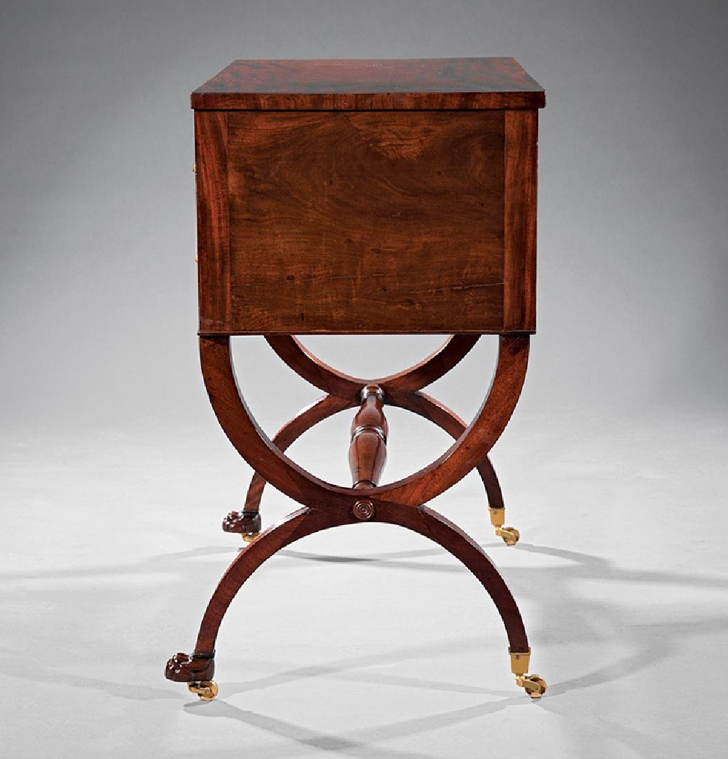 American Classical Carved Mahogany Chamber Table - 3
