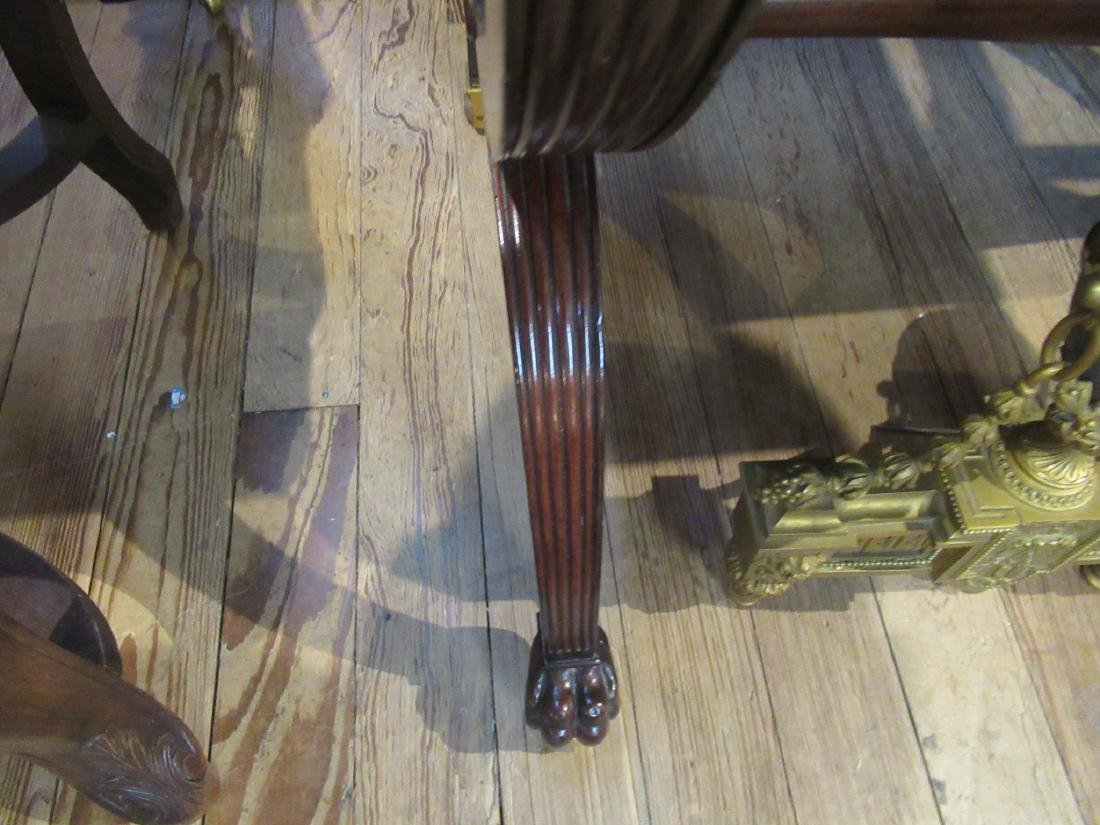 American Classical Carved Mahogany Chamber Table - 8