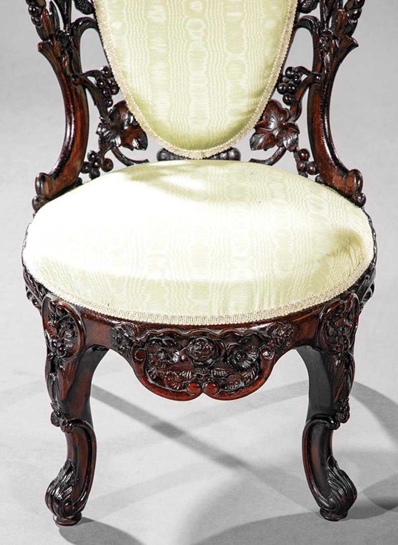 Carved and Laminated Rosewood Side Chairs, Belter - 3