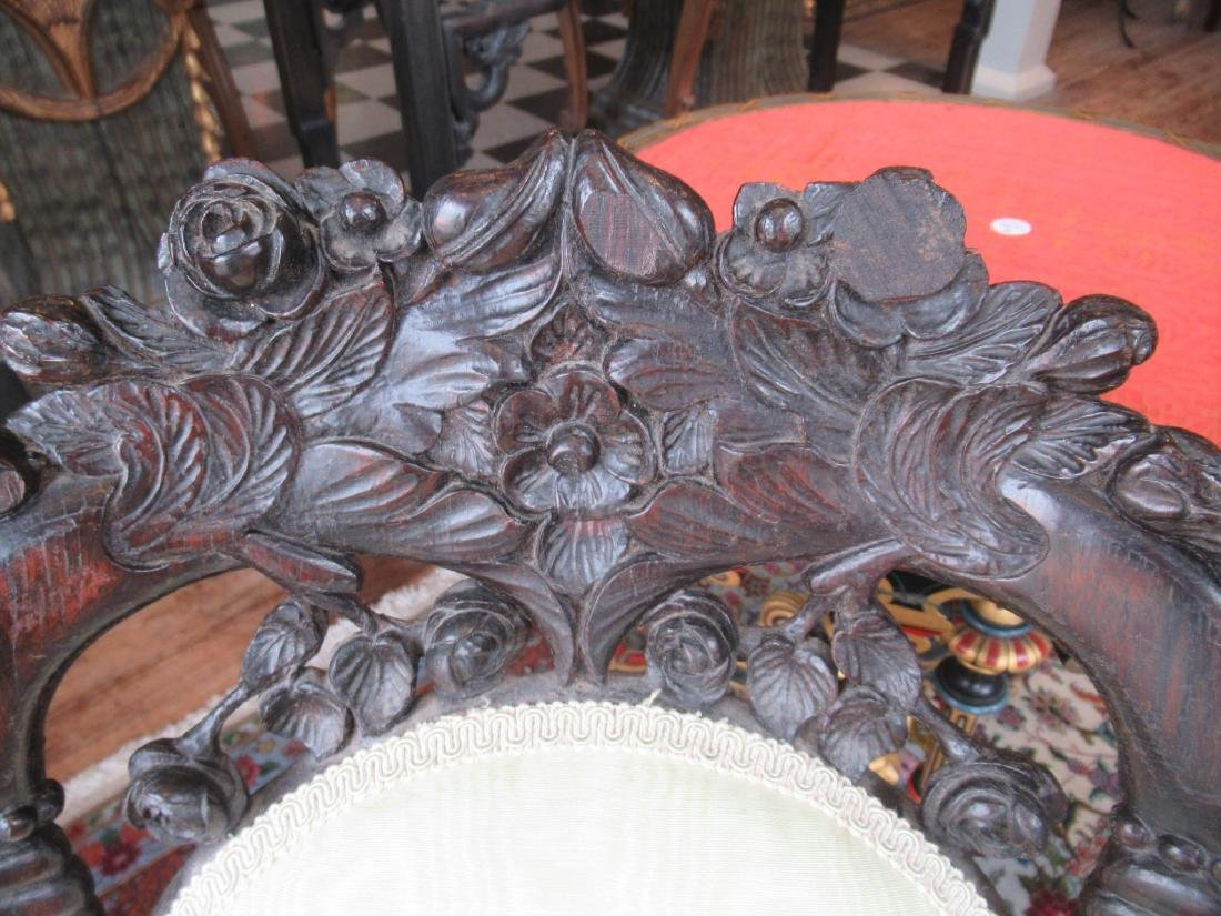 Carved and Laminated Rosewood Side Chairs, Belter - 4