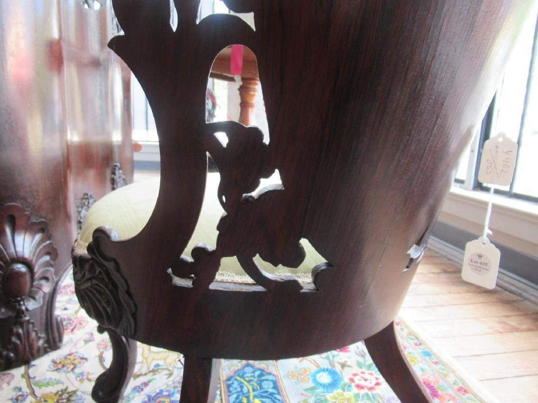 Carved and Laminated Rosewood Side Chairs, Belter - 8