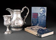 Adolphe Himmel Coin Silver Presentation Pitcher/Goblet