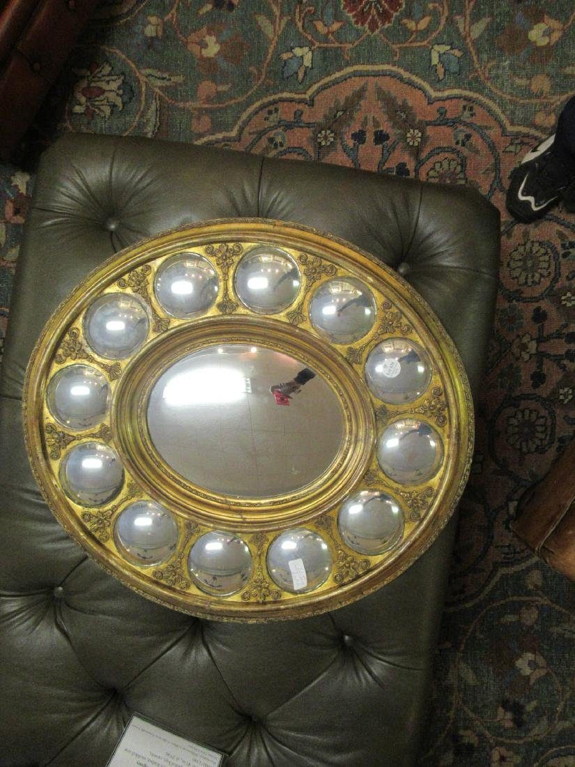 Charles X Carved Giltwood Convex Mirror - 3