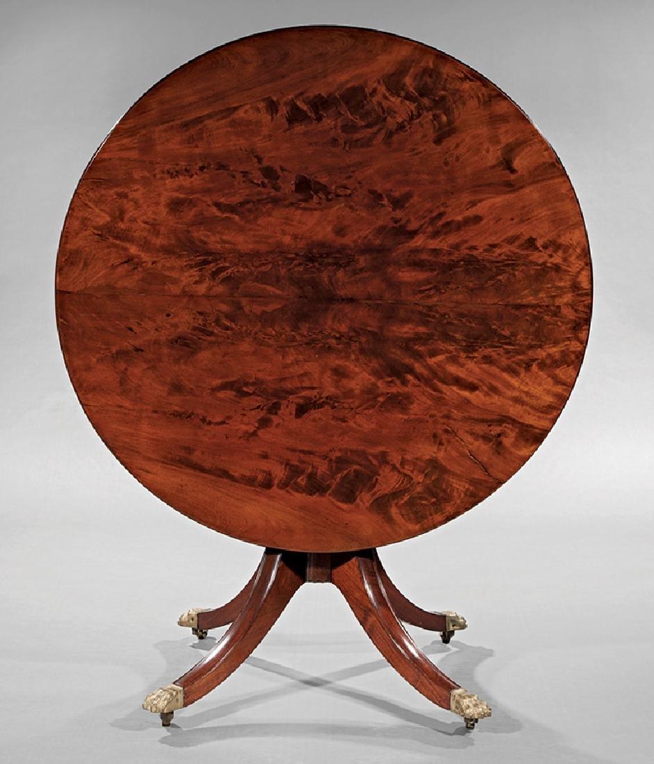 Figured Mahogany Tilt-Top Table, attr. Needles