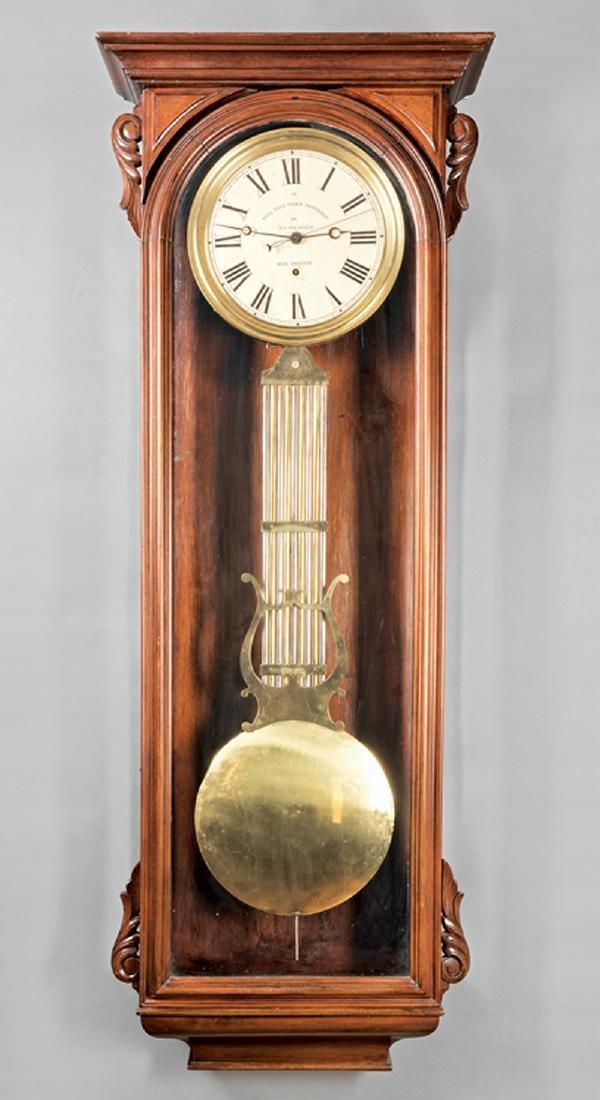 New Orleans Mahogany Regulator Wall Clock