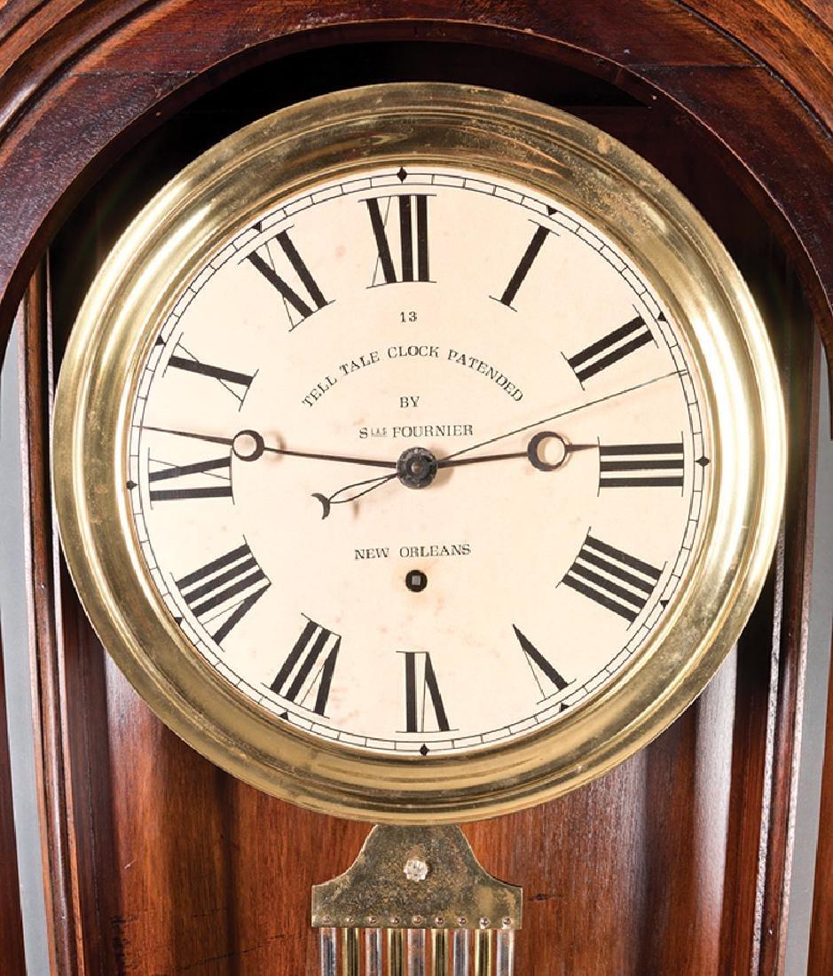 New Orleans Mahogany Regulator Wall Clock - 2
