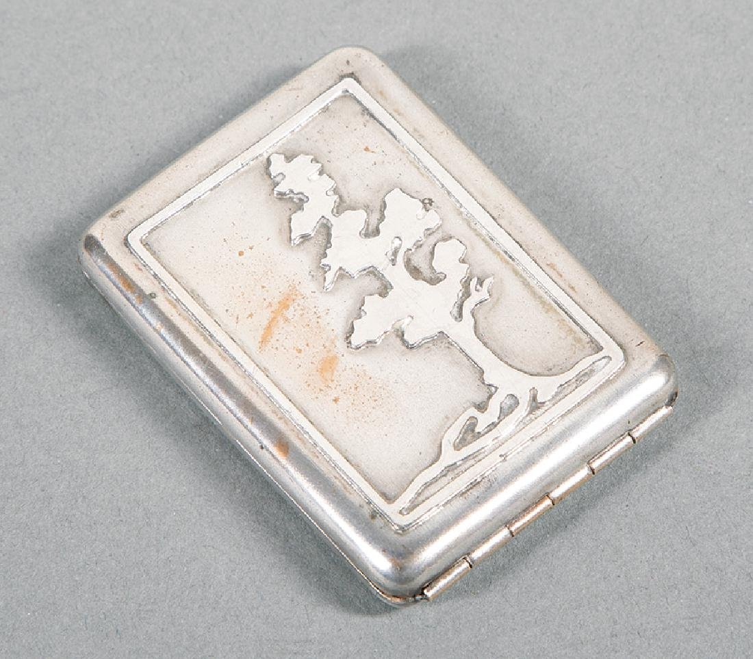 Newcomb College  Sterling Silver Matchbox Holder