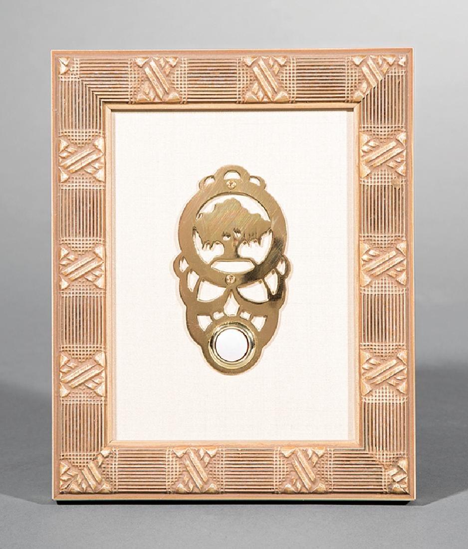Newcomb College Pierced Brass Doorbell