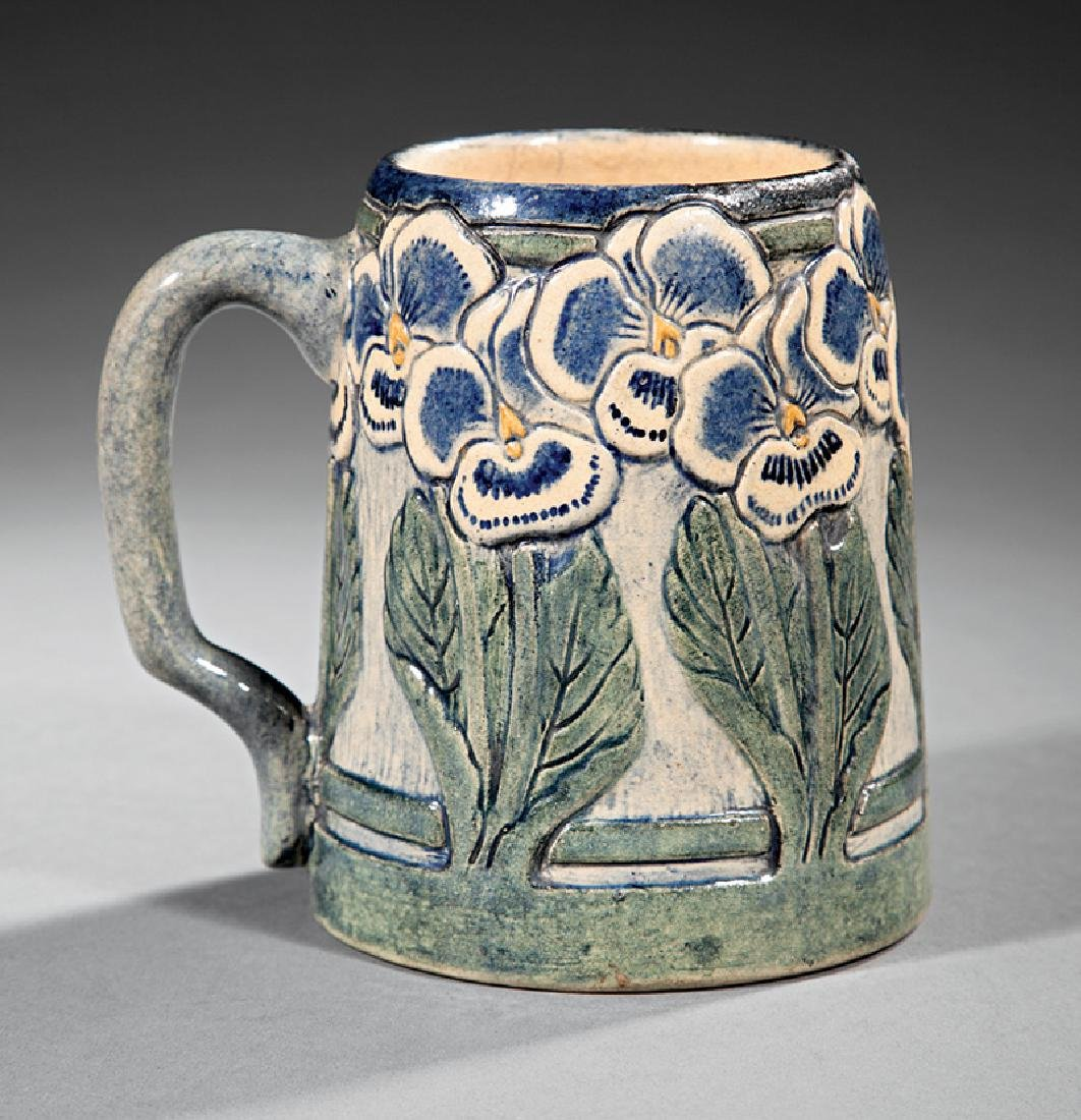 Newcomb College Art Pottery High Glaze Tankard - 2