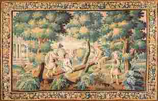 French Aubusson Tapestry from Series Jeux d'Enfants