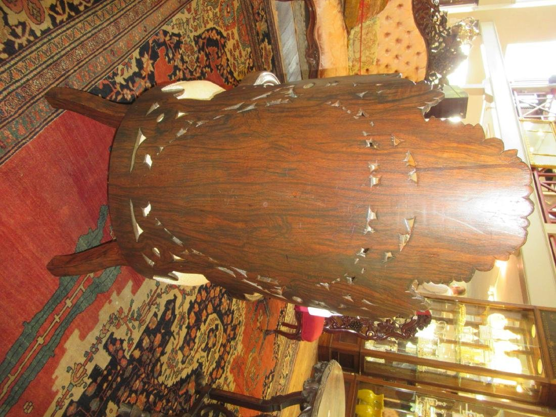 Carved and Laminated Rosewood Armchairs, Belter - 8