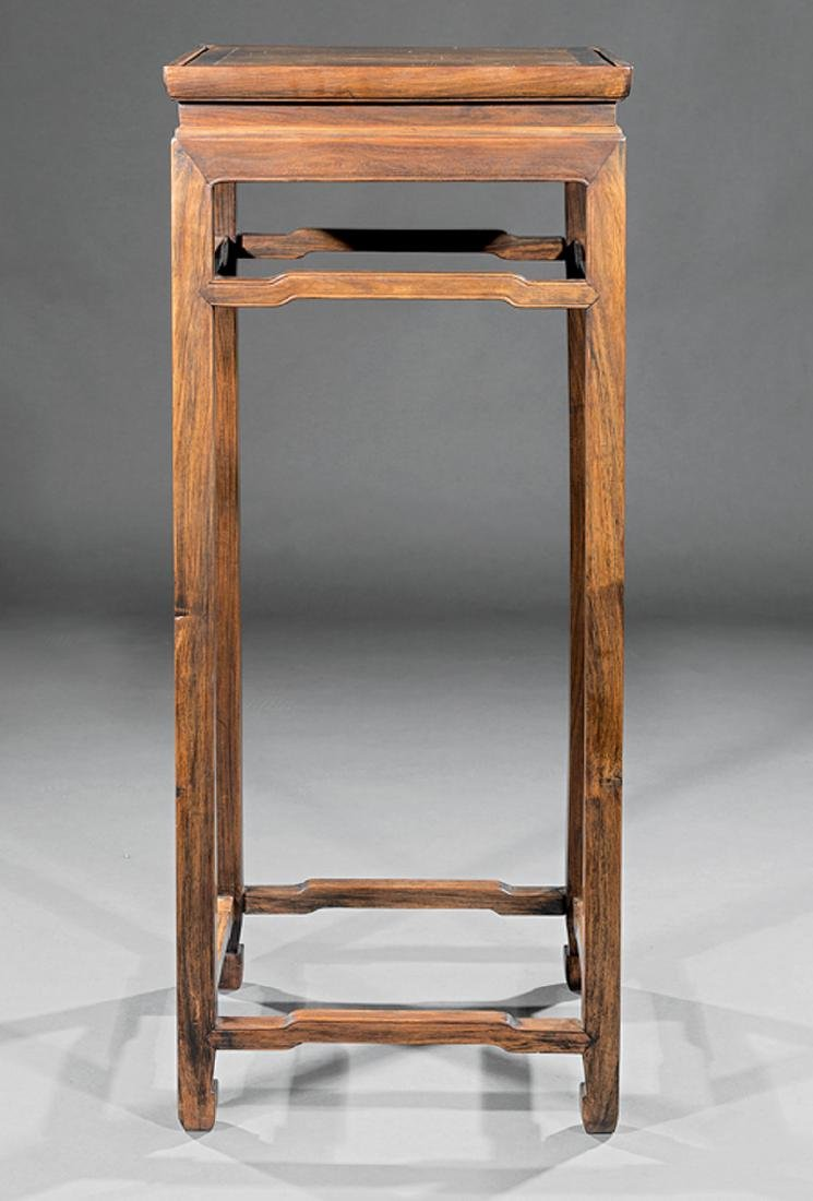 Chinese Hardwood Tall Stand - 2